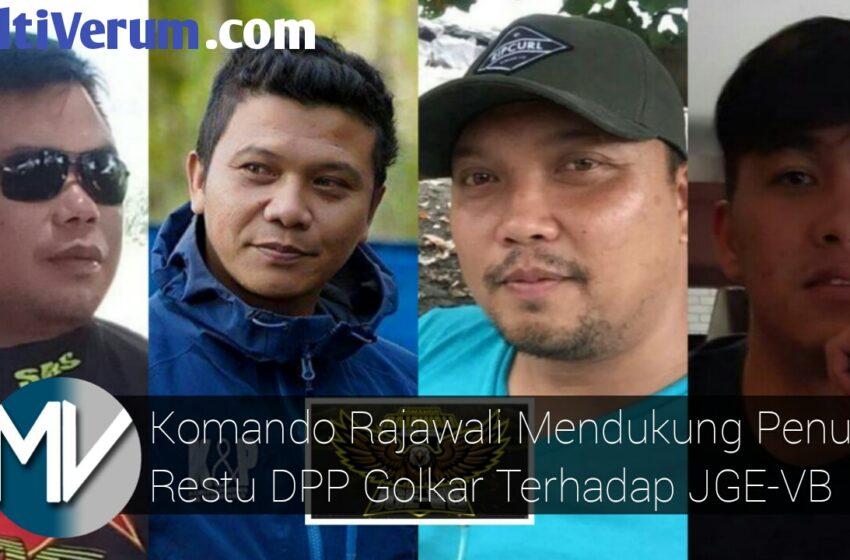 Restu DPP Golkar Terhadap JGE-VB Didukung Komando Rajawali