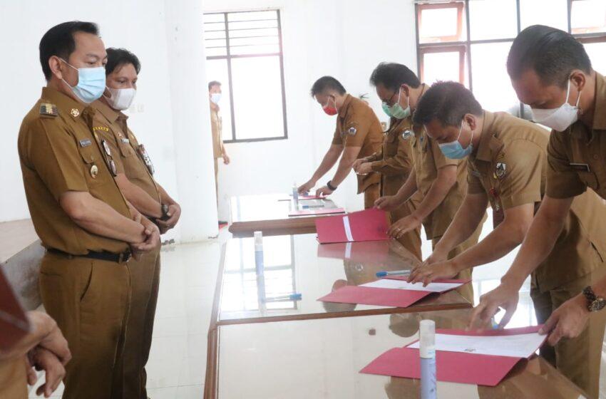 Teken Pakta Integritas, Jajaran Pemkot Tomohon Sepakat Tak Korupsi