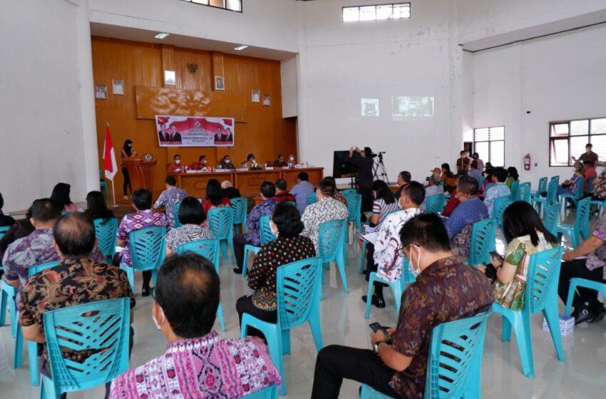 """Walikota : Penyusunan Dokumen RPJMD 2021-2026, Harus Mengacu Visi """"Tomohon Maju, Berdaya Saing dan Sejahtera"""""""