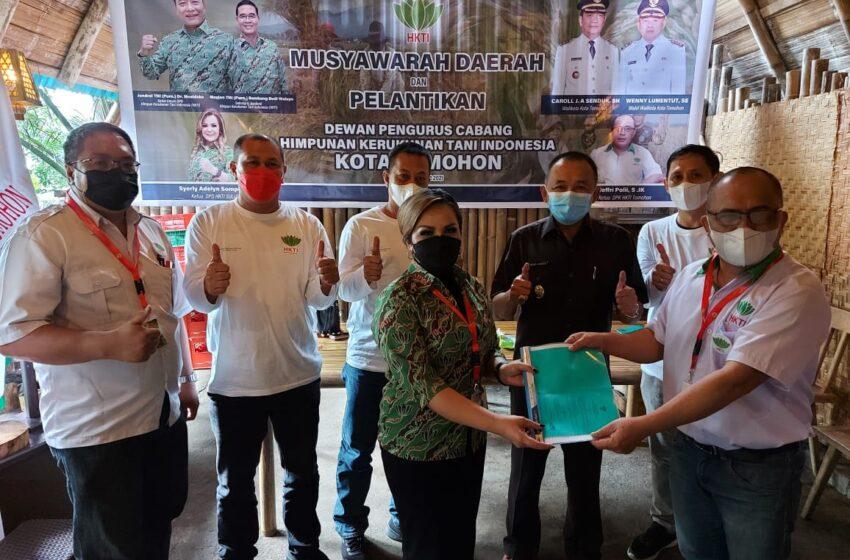 Dilantik SAS Pimpin HKTI Tomohon, Jepol Langsung Susun Program 100 Hari Kerja