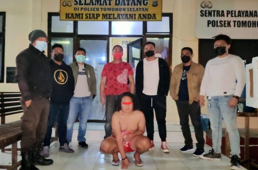 """Hadang Kendaraan di Jalan Raya Tumatantang Sambil """"Bakuku"""", Fael Diringkus Tim Totosik"""