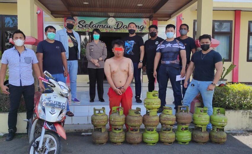 Terungkap !! Pencuri Tabung Gas Elpiji 3 Kilo Berhasil Digulung Tim URC Totosik dan Reskrim