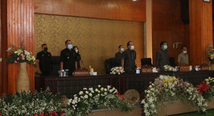 Walikota Paparkan Ranperda Pertanggungjawaban Pelaksanaan APBD 2020 di DPRD