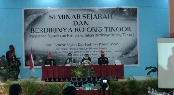 WL Buka Seminar Sejarah dan Berdirinya Ro'ong Tinoor