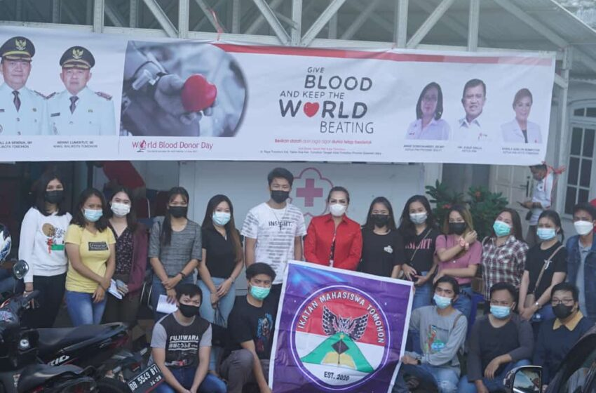Gelar Donor Darah, PMI Gandeng Ikatan Mahasiswa Unima Tomohon