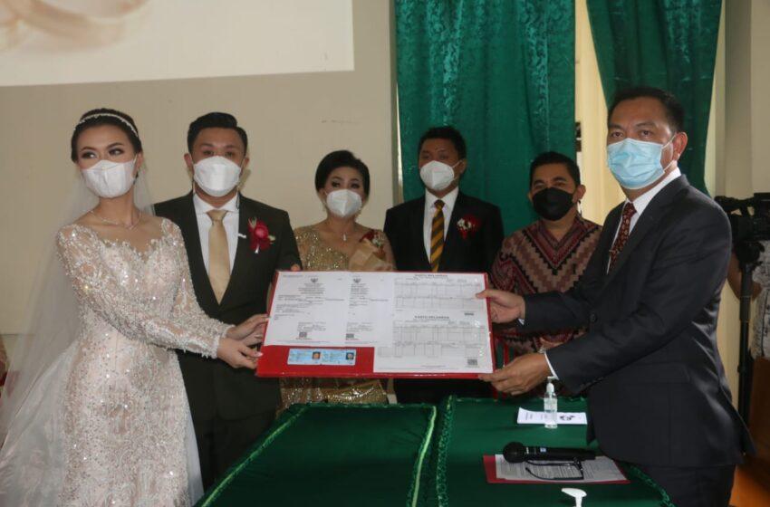 Cyntia Wongkar Lepas Lajang, Walikota Jadi Saksi