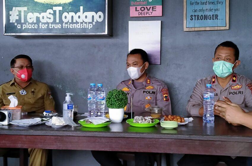 Jalin Kebersamaan, Plt Kapolres Minahasa Tatap Muka dengan Awak Media