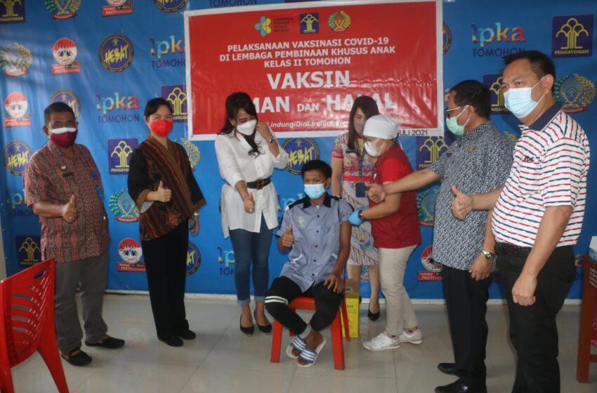 Walikota Dampingi Tanos Pantau Vaksinasi Covid 19 di LPKA, Panen Daun Bawang dan Tanam Bibit Cabe