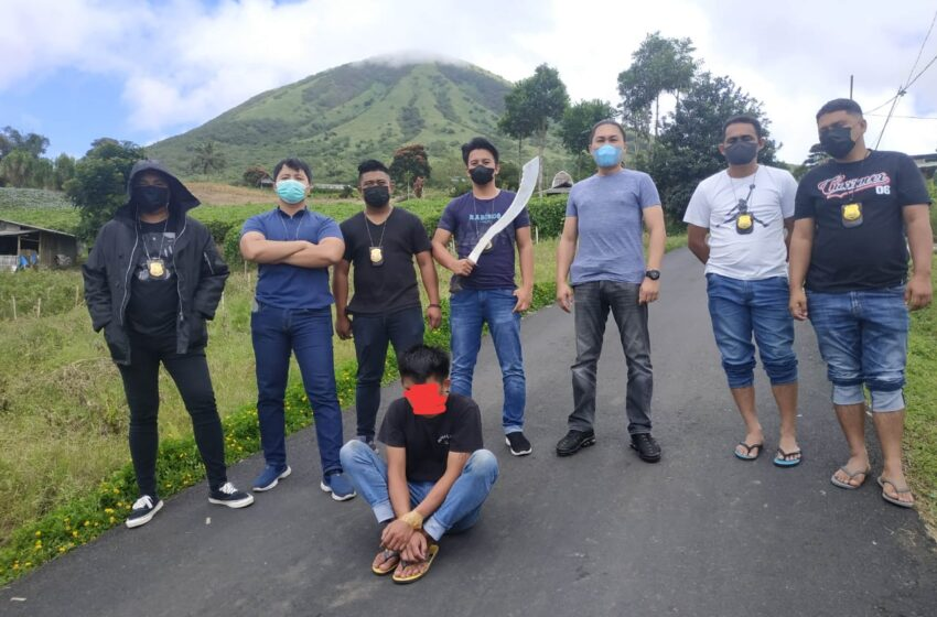 Tersangka Pembacokan di Kaki Gunung Lokon Berhasil Diringkus Totosik